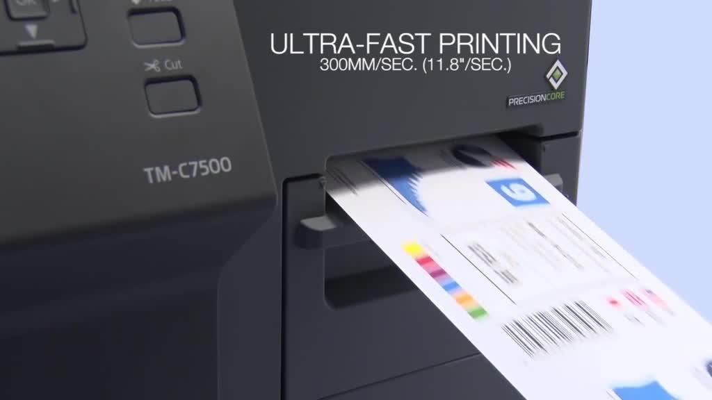 Impresora de etiquetas full color EPSON C7500G